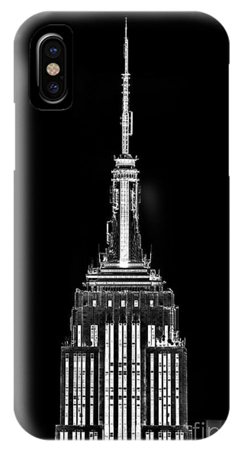 New York IPhone X Case featuring the photograph Skyscraper by Az Jackson