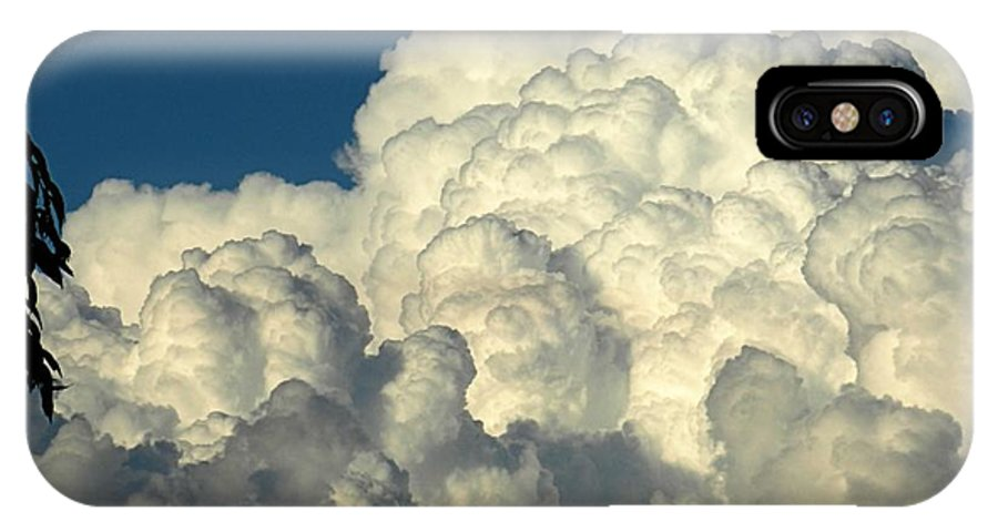 Cloud IPhone X Case featuring the photograph Skyward Sculpture by Sharon Woerner