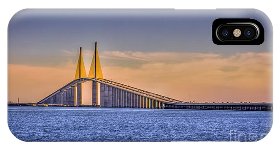 Skyway Bridge IPhone X Case featuring the photograph Skyway Bridge by Marvin Spates