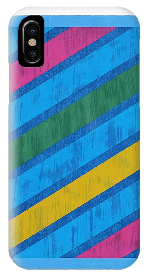 Geometric Abstraction IPhone X Case featuring the painting Slant I by Amy Van Helden
