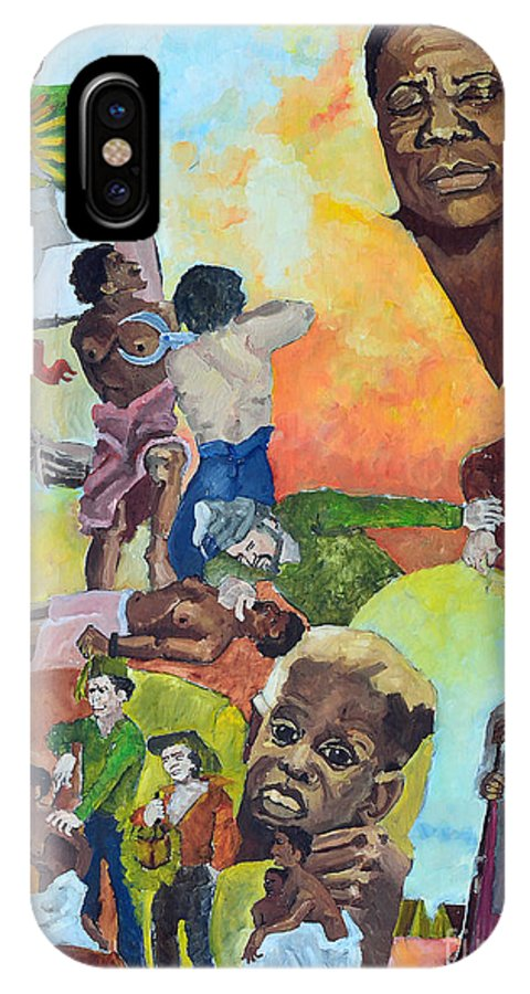 Slavery IPhone X Case featuring the painting Slave Women by Charles M Williams