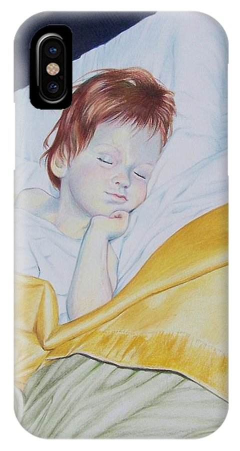 Baby IPhone Case featuring the mixed media Sleeping Beauty by Constance Drescher