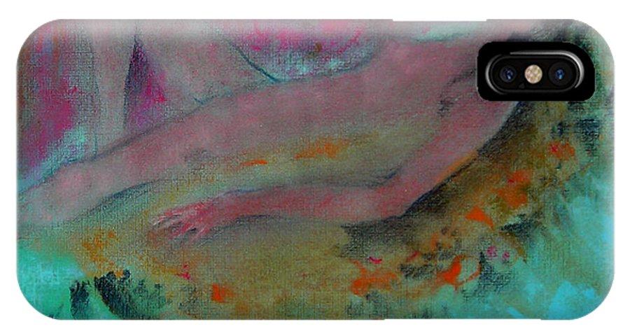 Sleeping Girl IPhone X Case featuring the pastel Sleeping Beauty II by Josie Taglienti