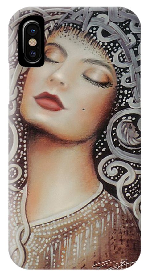 Beautiful IPhone X Case featuring the painting Sleeping Beauty by S G