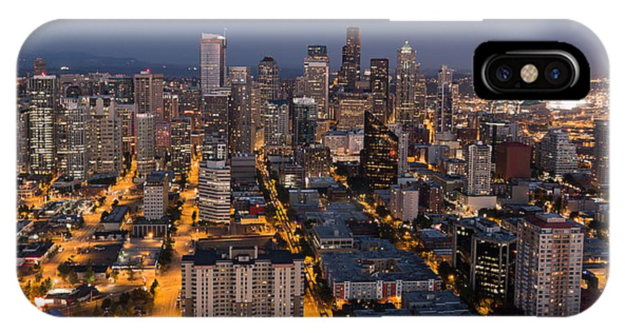America IPhone X Case featuring the photograph Sleepless In Seattle by Heidi Smith