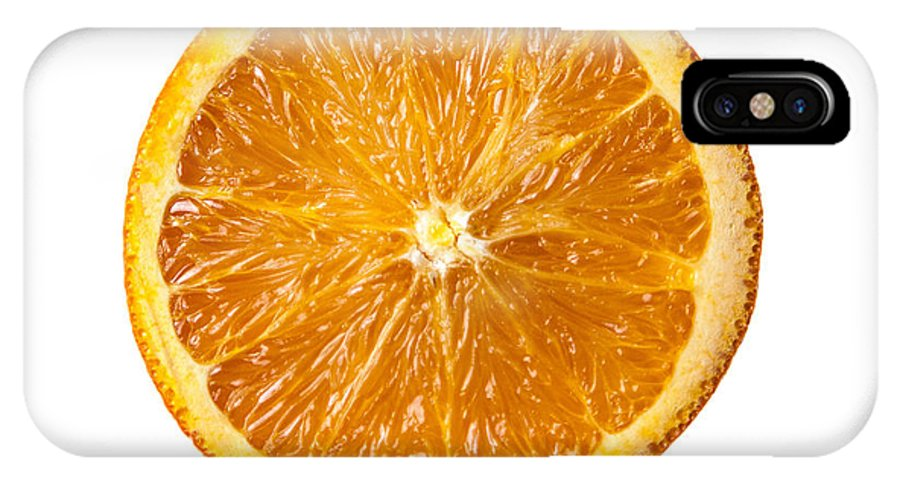 Orange IPhone X Case featuring the photograph Sliced Orange by Mason Resnick