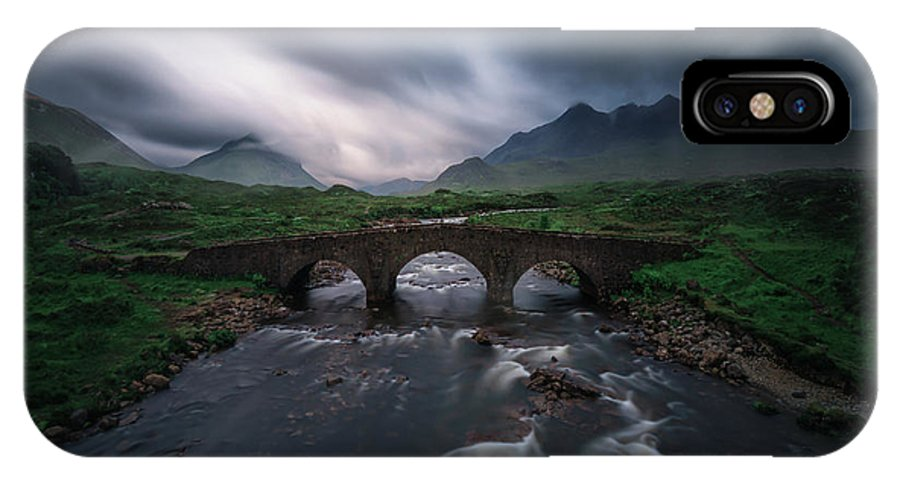 Scotland IPhone X Case featuring the photograph Sligachan Storm. by Juan Pablo De