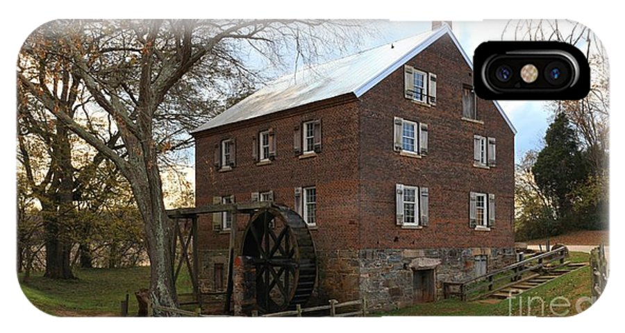 Kerr Mill IPhone X / XS Case featuring the photograph Sloan Park Grist Mill by Adam Jewell