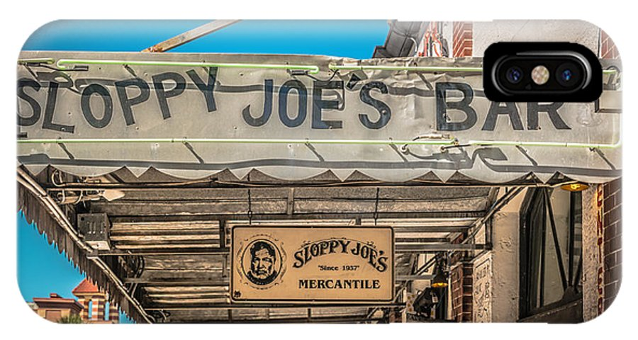 America IPhone X Case featuring the photograph Sloppy Joe's Bar Canopy Key West - Hdr Style by Ian Monk