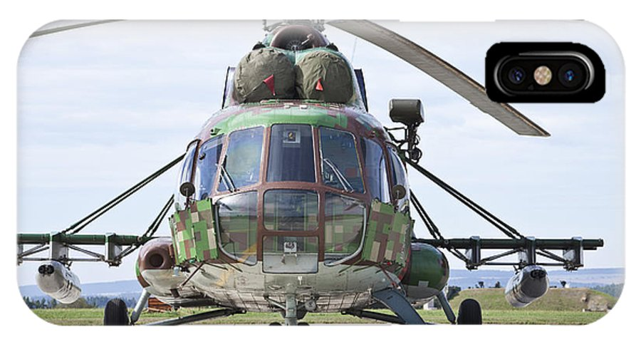 Czech Republic IPhone X Case featuring the photograph Slovakian Mi-17 With Digital Camouflage by Timm Ziegenthaler