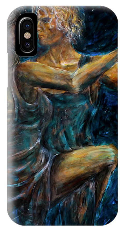 Slow Dancing IPhone X / XS Case featuring the painting Slow Dancing II by Nik Helbig