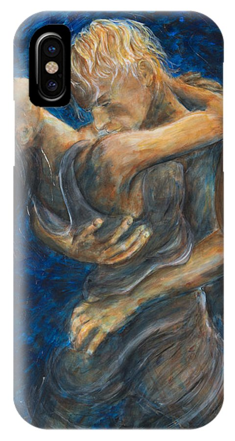 Slow Dancing IPhone X / XS Case featuring the painting Slow Dancing IIi by Nik Helbig