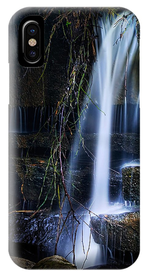 Waterfall IPhone X Case featuring the photograph Small Waterfall by Tom Mc Nemar