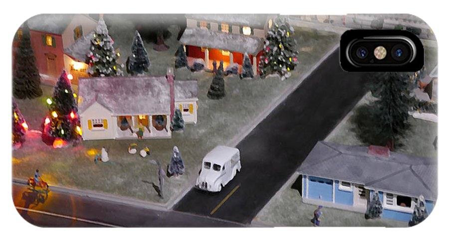 Xmas IPhone X Case featuring the digital art Small World - A Smalltown Holiday by Richard Reeve