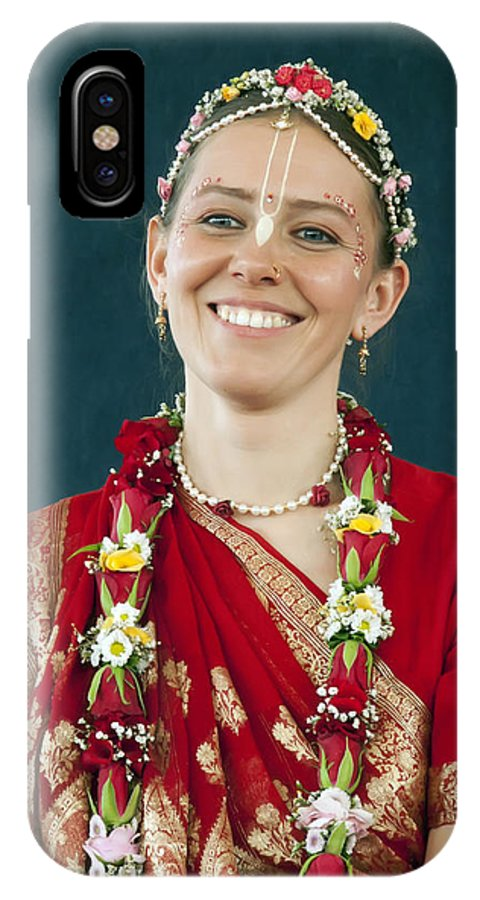 Bride IPhone X Case featuring the photograph Smile by Daniel Csoka