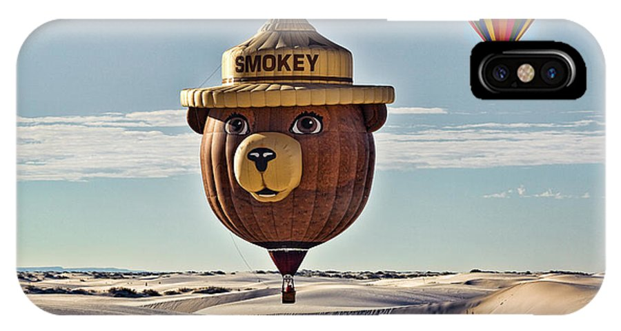 Hot Air Balloon IPhone X Case featuring the photograph Smokey by Diana Powell