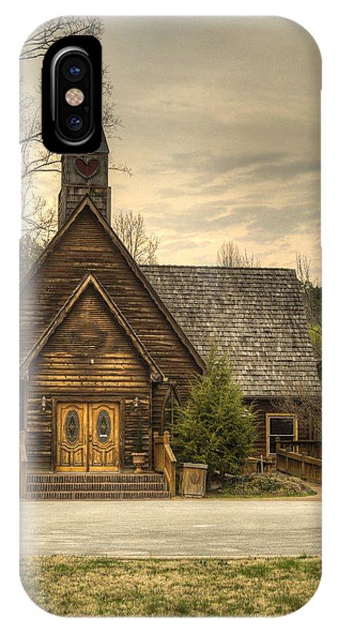 Love IPhone X Case featuring the photograph Smokey Mountain Love Chapel 2 by Douglas Barnett