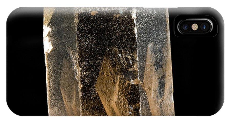 Smokey IPhone X Case featuring the photograph Smokey Quartz - Furka - Switzerland by Shawn Hempel