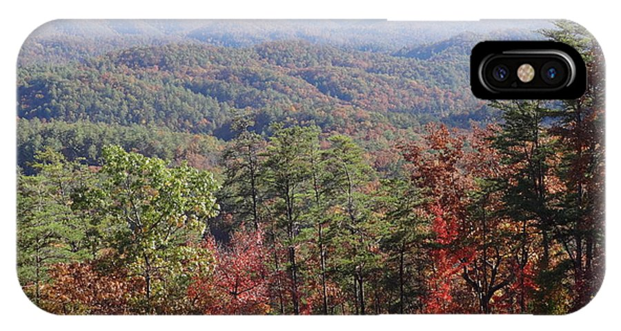 Smokie Mountains IPhone X Case featuring the photograph Smokie's In The Fall by Timothy Phillippi