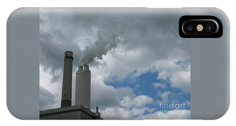 Smoke Stack IPhone X Case featuring the photograph Smoking Stack by Ann Horn