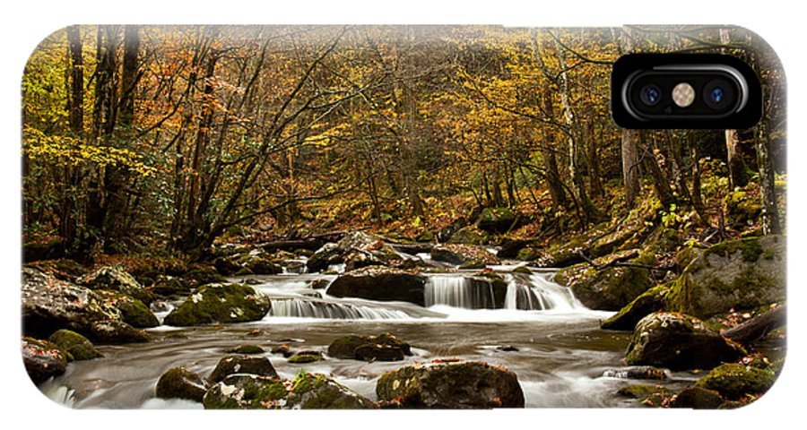 River IPhone X Case featuring the photograph Smoky Mountain Gold II by Douglas Stucky
