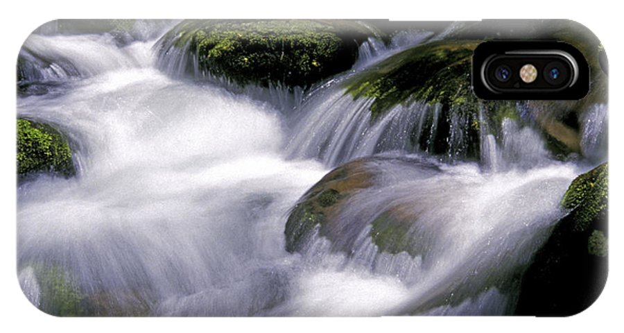 Stream IPhone X Case featuring the photograph Smoky Mountain Stream by Paul W Faust - Impressions of Light