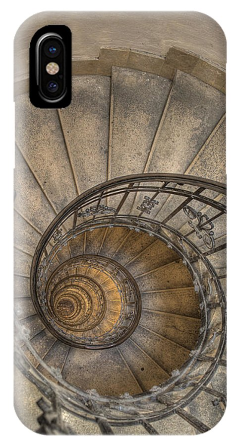 Stairs IPhone X Case featuring the photograph Snailing Stairs by Jean-Laurent Tari