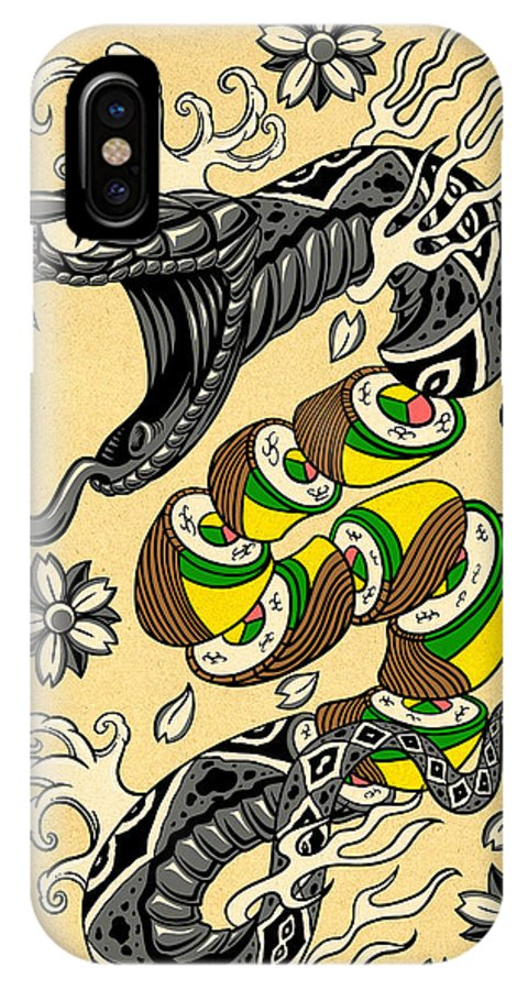 Snake Roll Japanese Style Tattoo Snake W Snake Roll Sushi Iphone