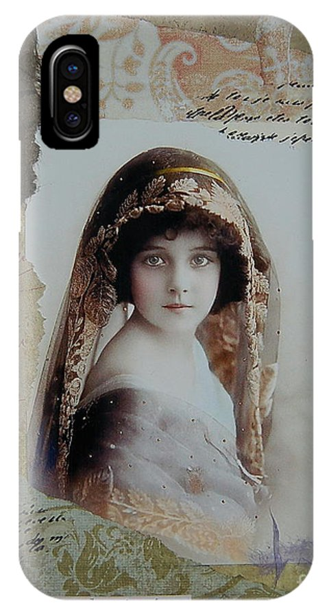 Girl IPhone X Case featuring the painting Snapshot In Time by Tamyra Crossley