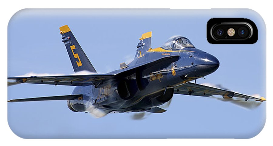 Aviation IPhone X Case featuring the photograph Sneak Pass by Rick Pisio