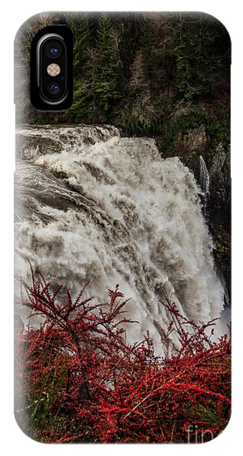 Snoqualmie Falls IPhone X / XS Case featuring the photograph Snoqualmie Falls At Flood Stage by Webb Canepa