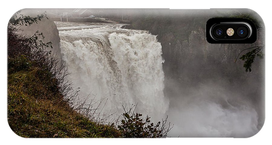 Snoqualmie Falls IPhone X / XS Case featuring the photograph Snoqualmie Falls by Webb Canepa