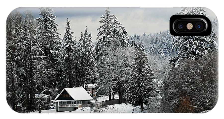 Snow IPhone X Case featuring the photograph Snow Storm by Glen Wilkerson