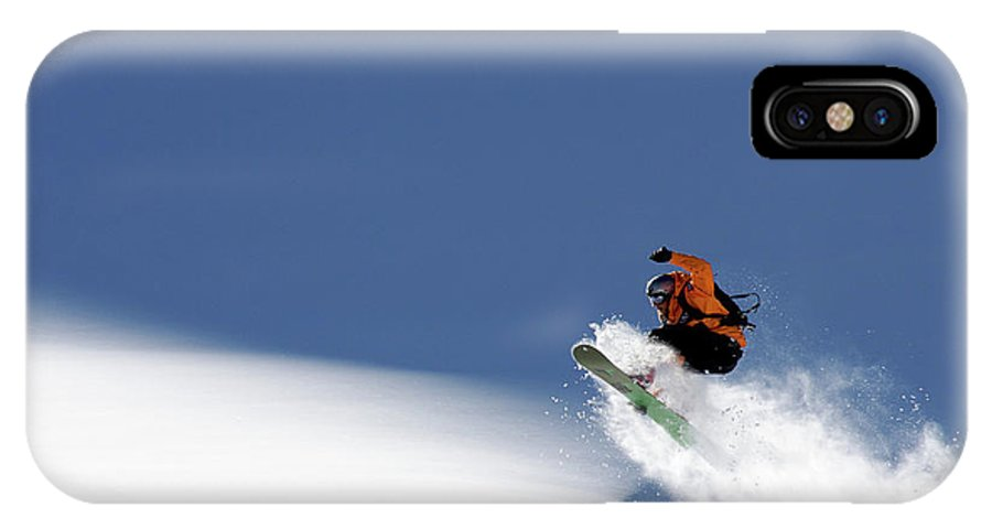 Snowboard IPhone X Case featuring the photograph Snowboarder by Evgeny Vasenev
