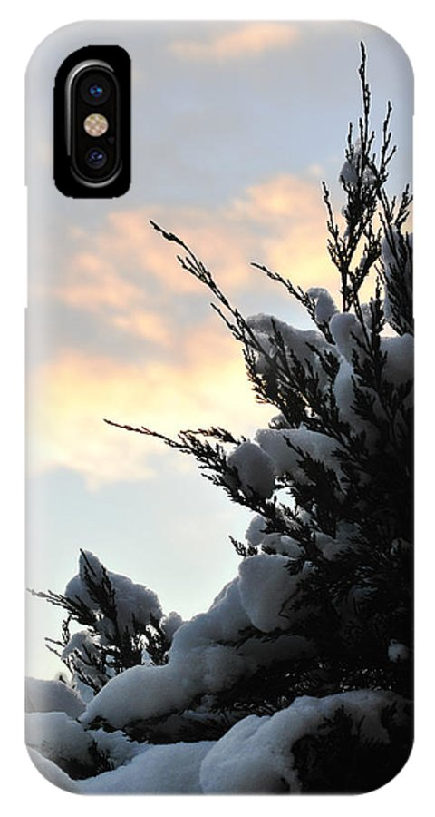 Michael Frank Jr IPhone X / XS Case featuring the photograph Snowvember Sunrise by Michael Frank Jr