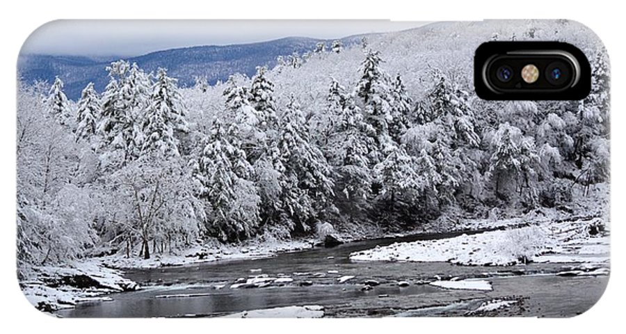 Creek IPhone X / XS Case featuring the photograph Snowy Catskill Creek by Judy Genovese
