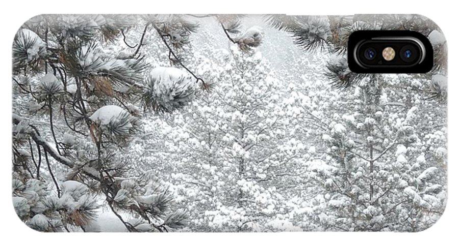 Colorado IPhone X Case featuring the photograph Snowy Forest by Marilyn Burton