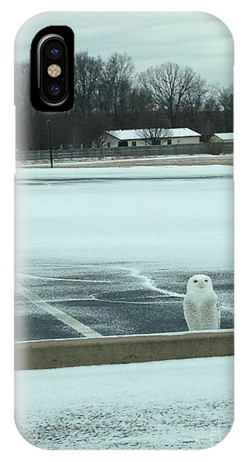 Snowy Owl IPhone X Case featuring the photograph Snowy Owl by Tyler Tokach
