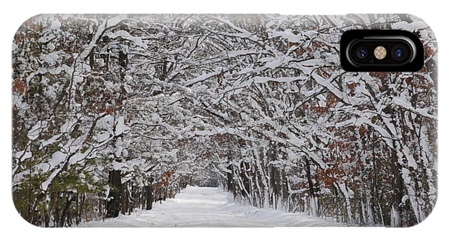 Snow IPhone X Case featuring the photograph Snowy Road - 3 by Victoria Feazell