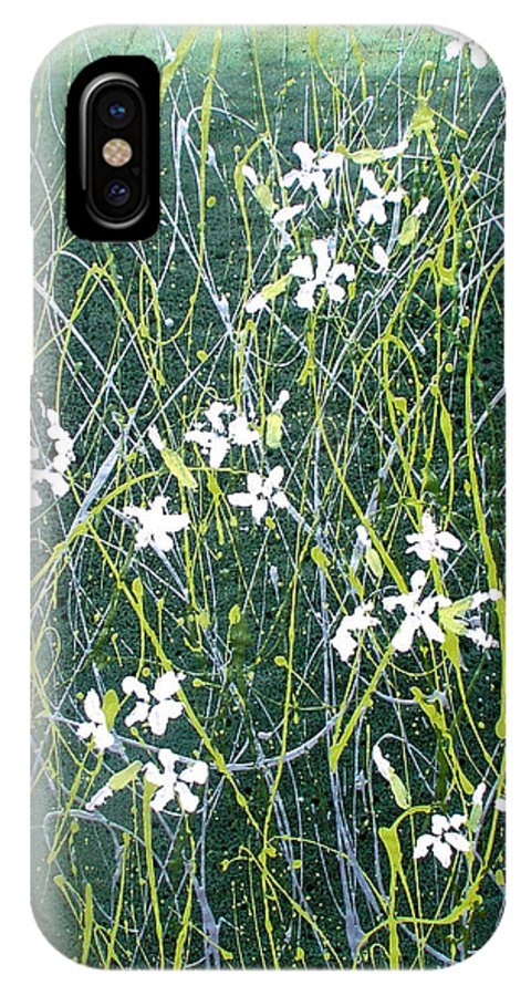 Soapwort IPhone X Case featuring the painting Soapwort by Marilee OGorman