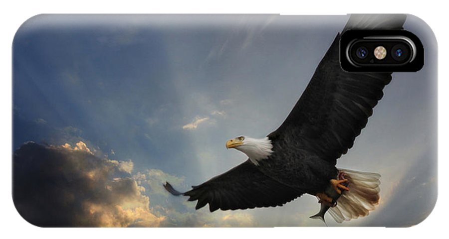 Eagle IPhone X Case featuring the photograph Soar To New Heights by Lori Deiter