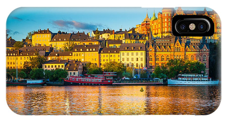 Europe IPhone X Case featuring the photograph Sodermalm Skyline by Inge Johnsson