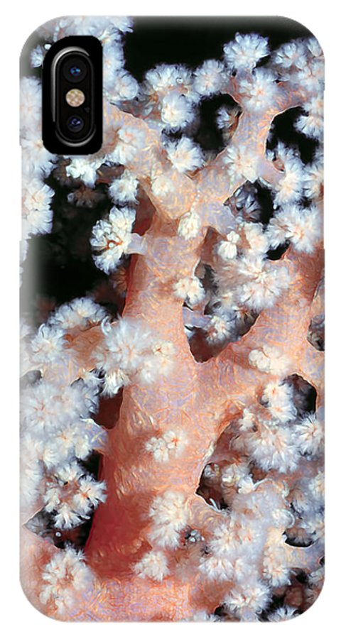 Micronesia IPhone X Case featuring the photograph Soft Corals 6 by Dawn Eshelman