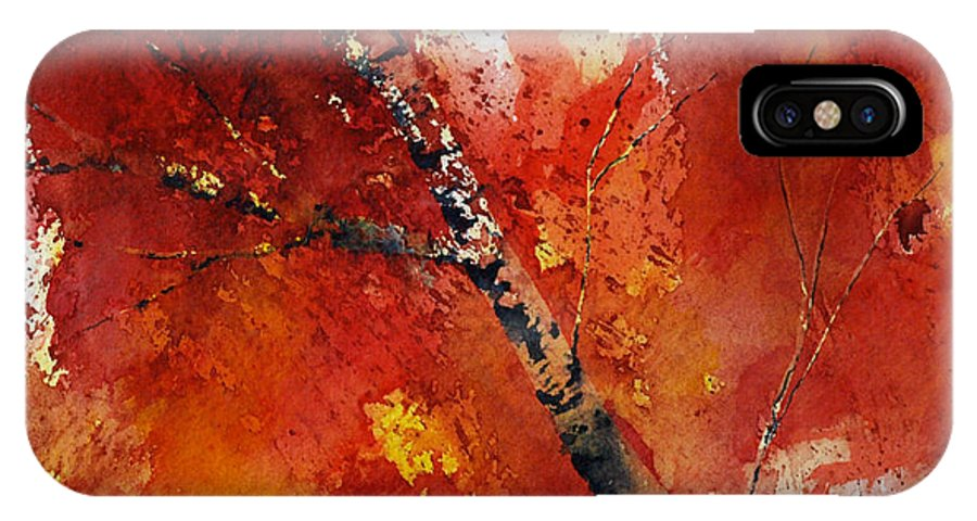 Fall IPhone X Case featuring the painting Soft Fall by Nelson Ruger