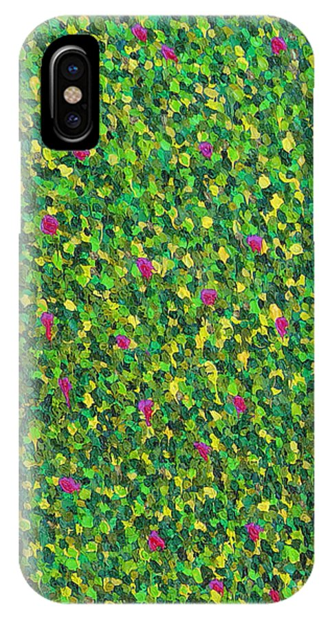 Abstract IPhone Case featuring the painting Soft Green With Pink by Dean Triolo