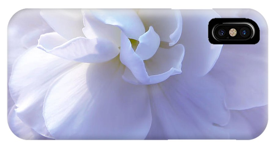 Begonia IPhone X Case featuring the photograph Soft Lavender Begonia Flower by Jennie Marie Schell