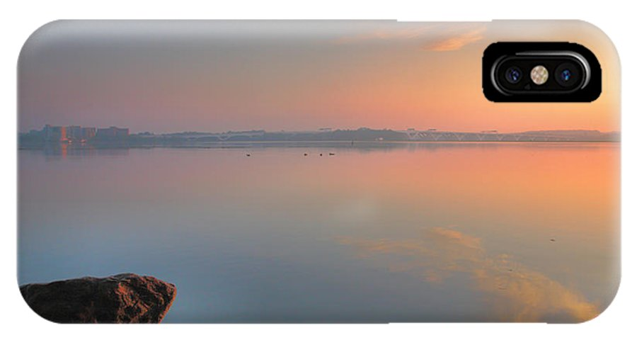 River IPhone X Case featuring the photograph Softly Comes The Dawn by Steven Ainsworth
