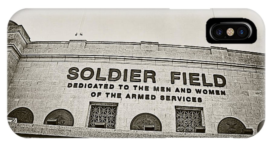 Soldier Field IPhone X Case featuring the photograph Soldier Field by Jessie Gould