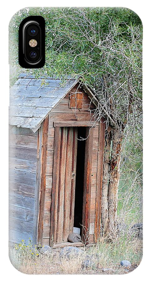 Old Out House IPhone X Case featuring the photograph Solitary Reflections by Floyd Tillery