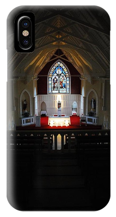 Church IPhone X Case featuring the photograph Solitude by Cindy Kreutzer